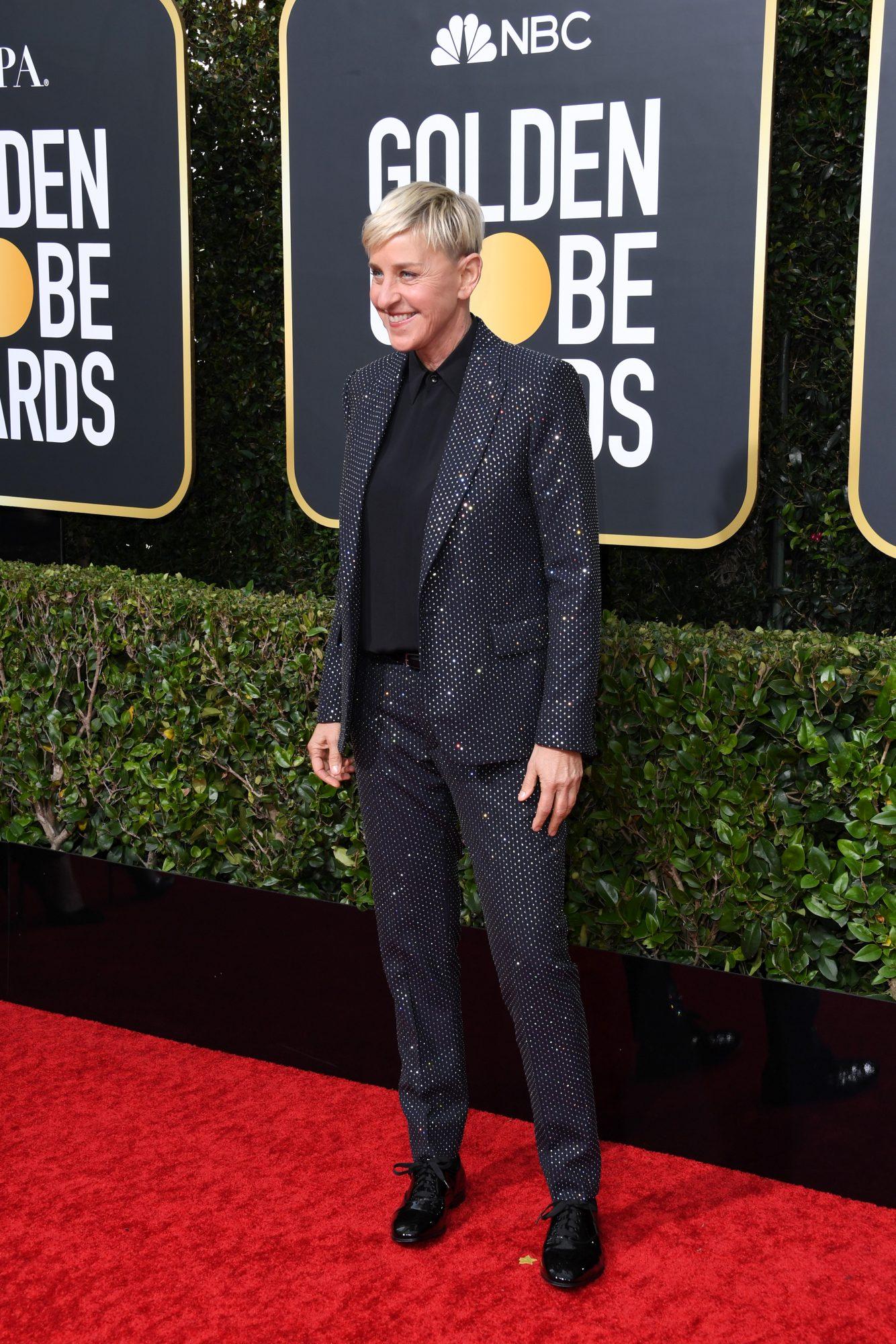Ellen DeGeneres Alfombra Roja Golden Globes 2020