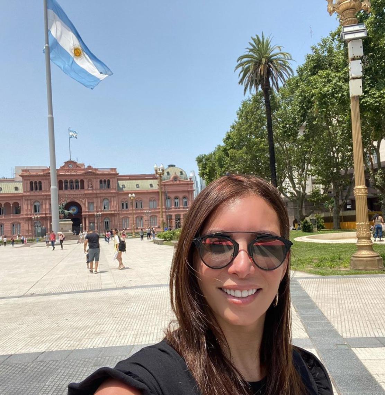 Giselle Blondet de vacaciones en Argentina