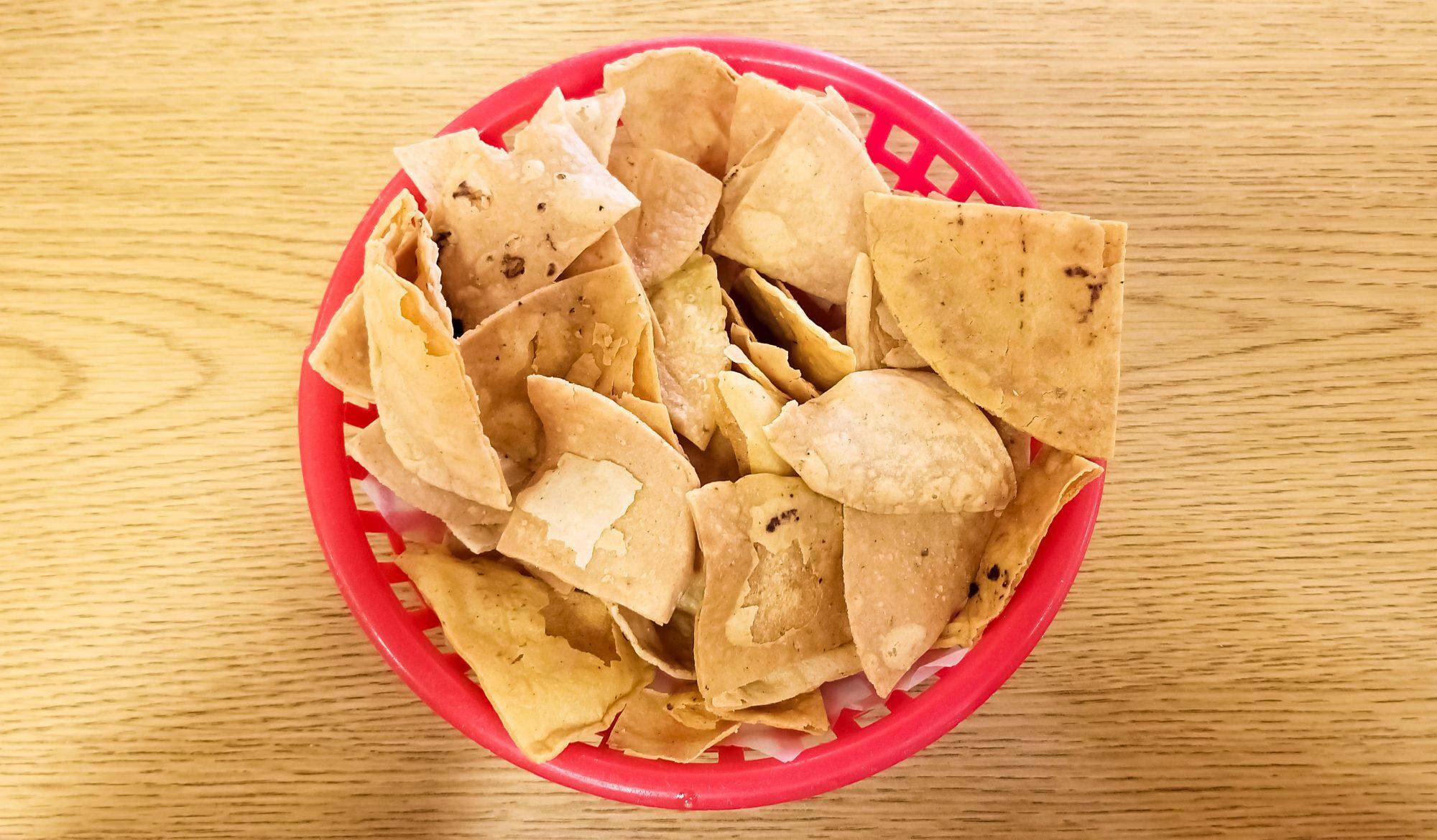 Totopos o chips horneados