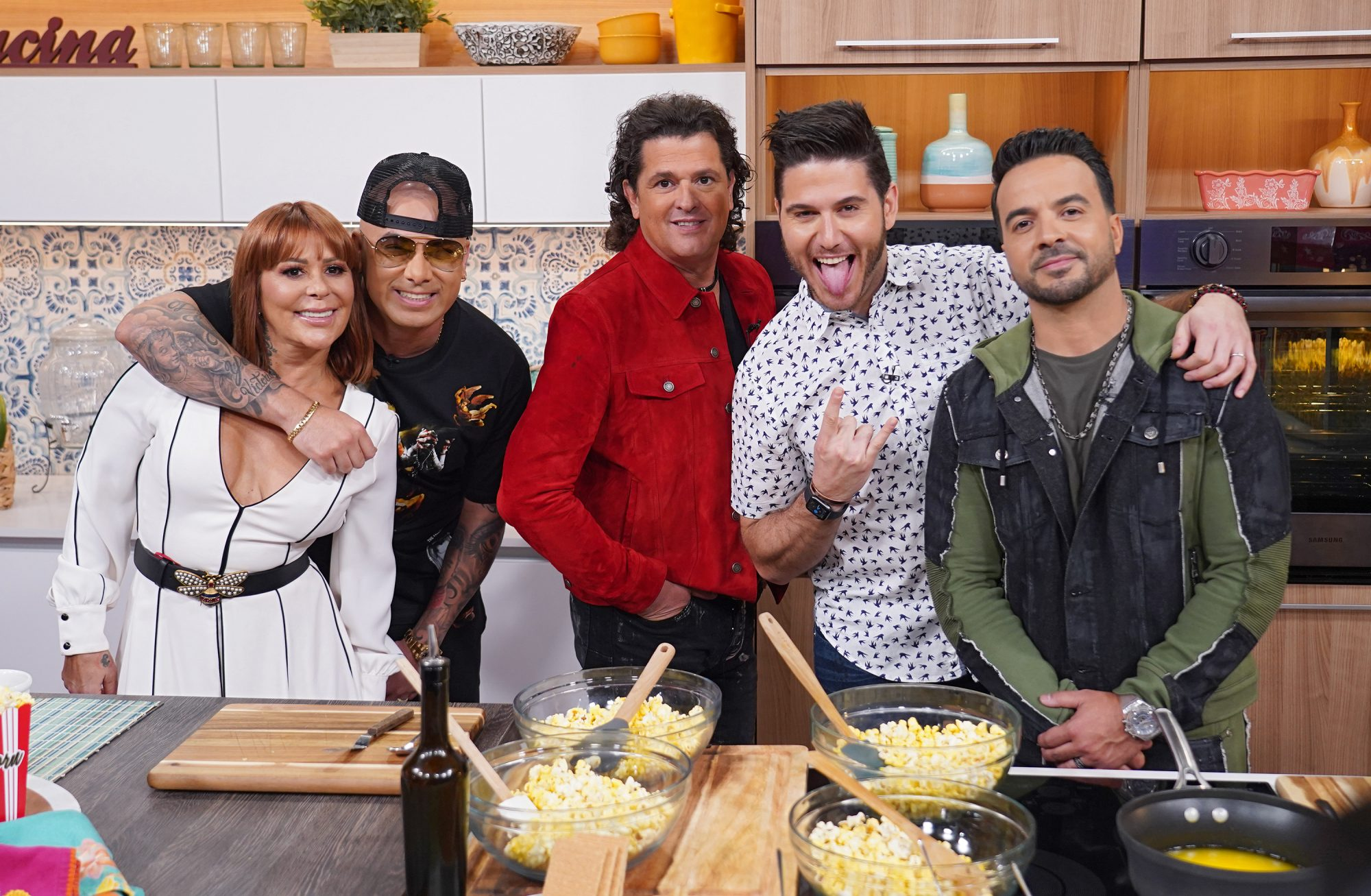 Alejandra Guzman, Wisin, Carlos Vives, Chef James y Luis Fonsi.