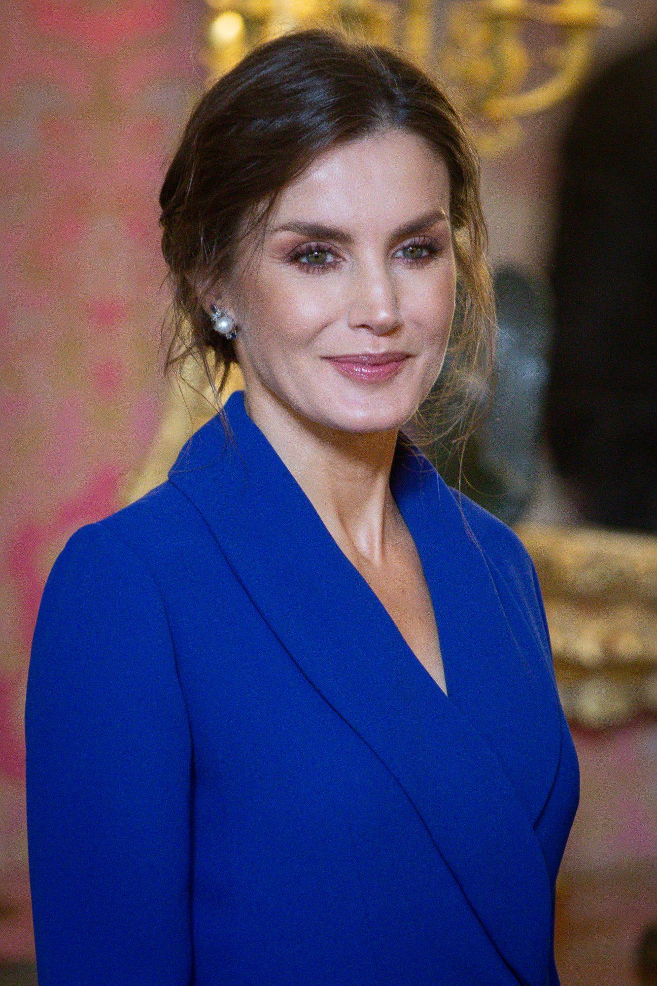 Reina Letizia, estilo, vestido azul