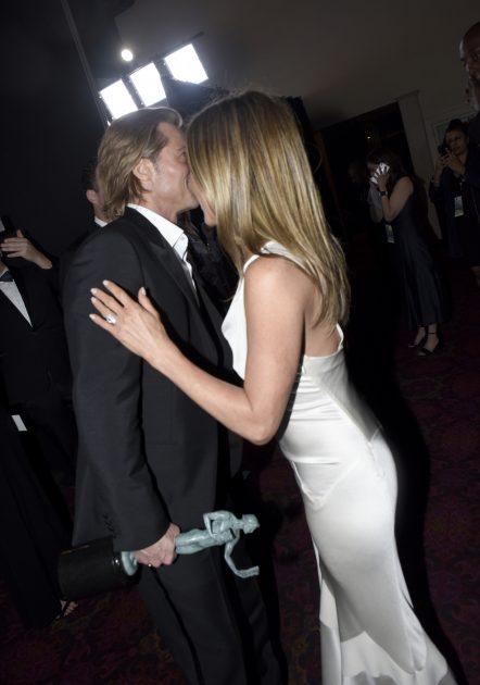 Jennifer Aniston y Brad Pitt en los SAG 2020