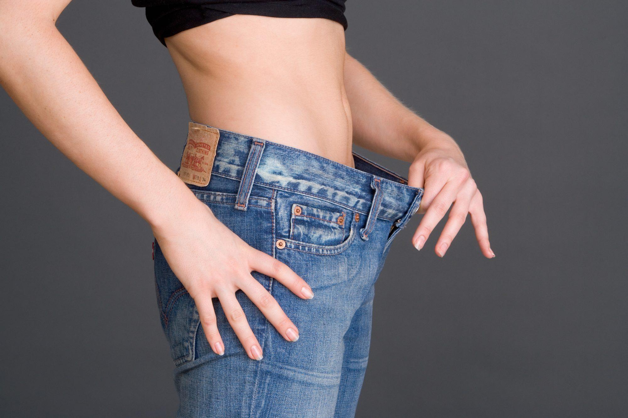 Mujer pantalón perder peso