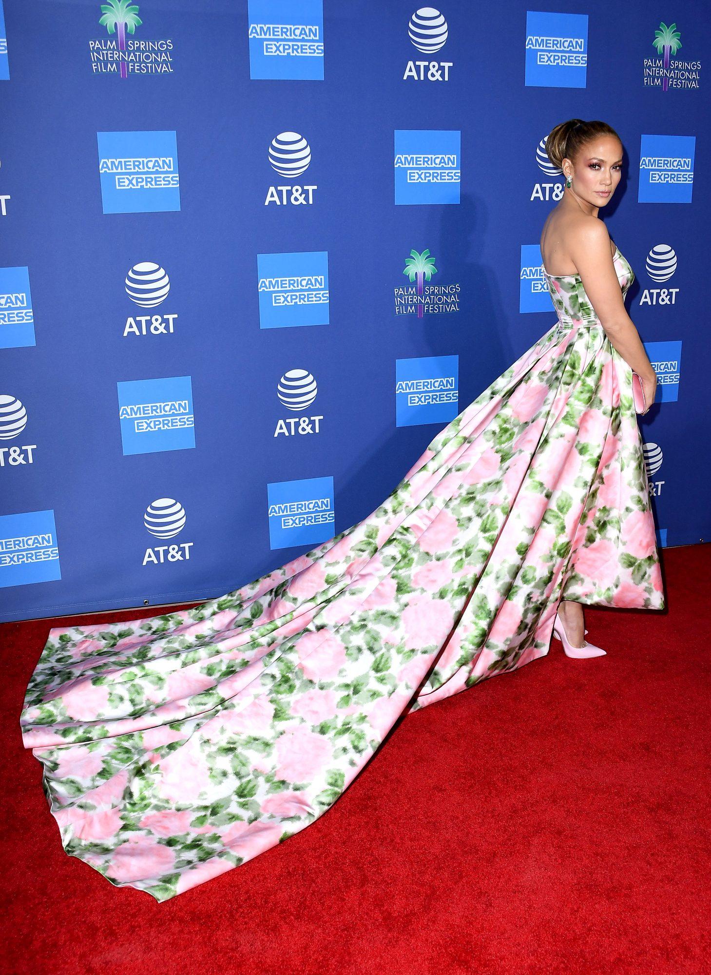 Jennifer Lopez, look, Palm Spring Film festival,
