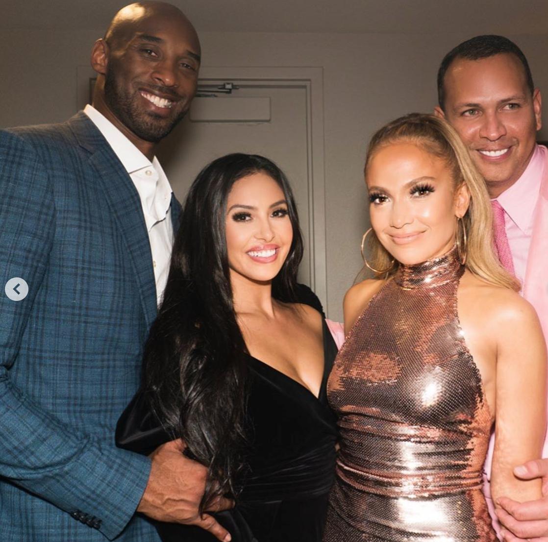 Jennifer Lopez con Kobe Bryant