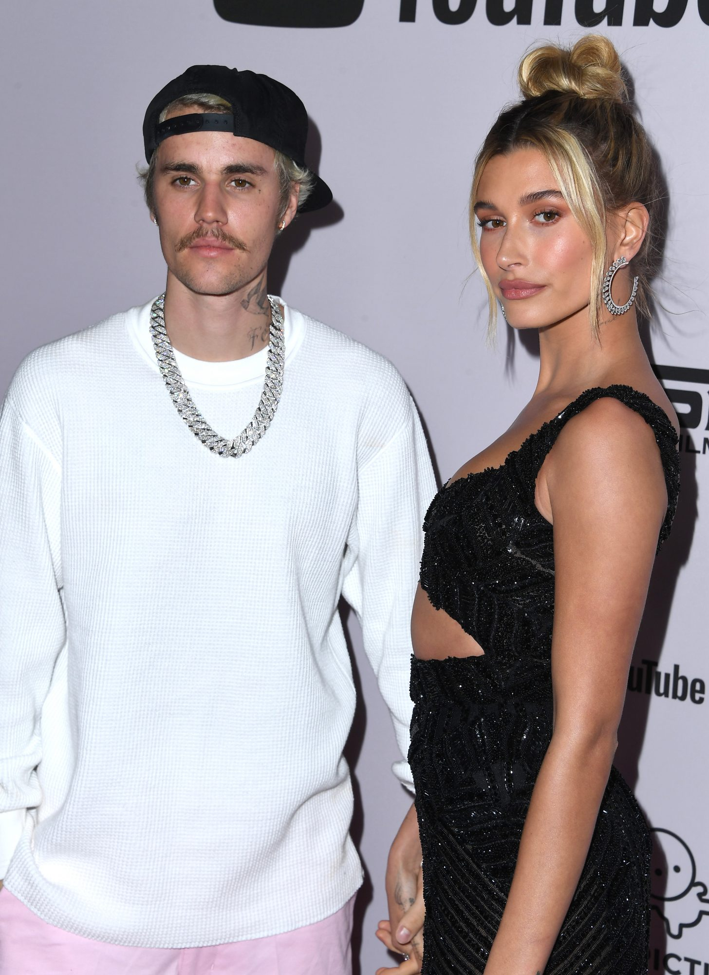 "Justin Bieber and Hailey Bieber arrives at the Premiere Of YouTube Originals' ""Justin Bieber: Seasons"""
