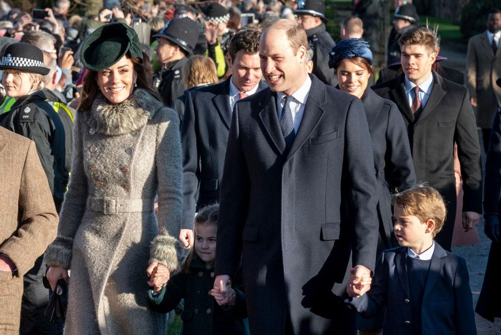 kate Middleton principe William principe George princesa Charlotte misa