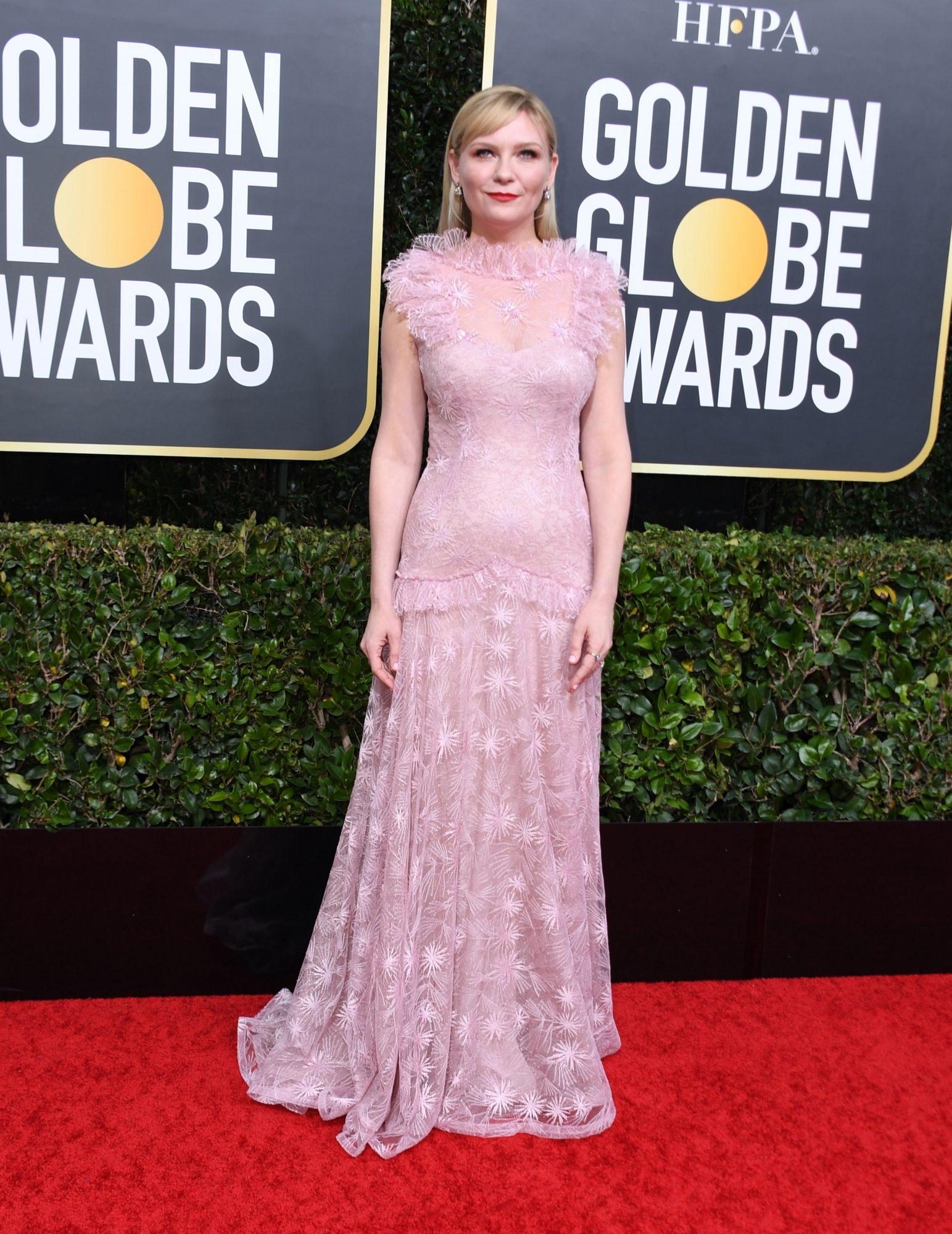 Kirsten Dunst Alfombra Roja Golden Globes 2020