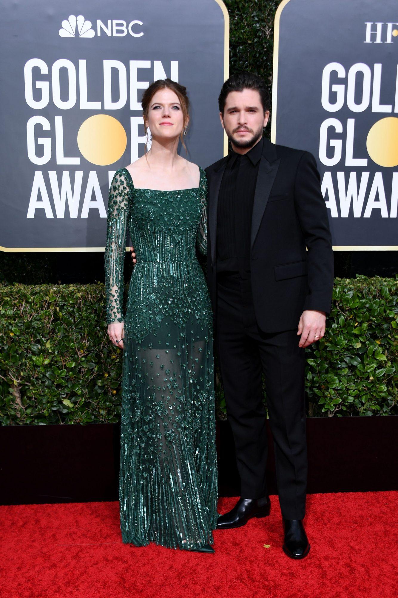 Kit Harington y Rose Leslie Alfombra Roja Golden Globes 2020