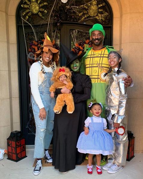 Vanessa Bryant y Kobe Bryant halloween
