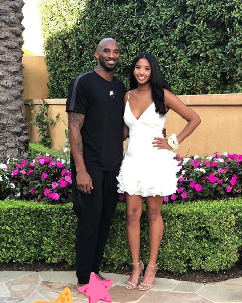 Kobe Bryant y su hija natalia