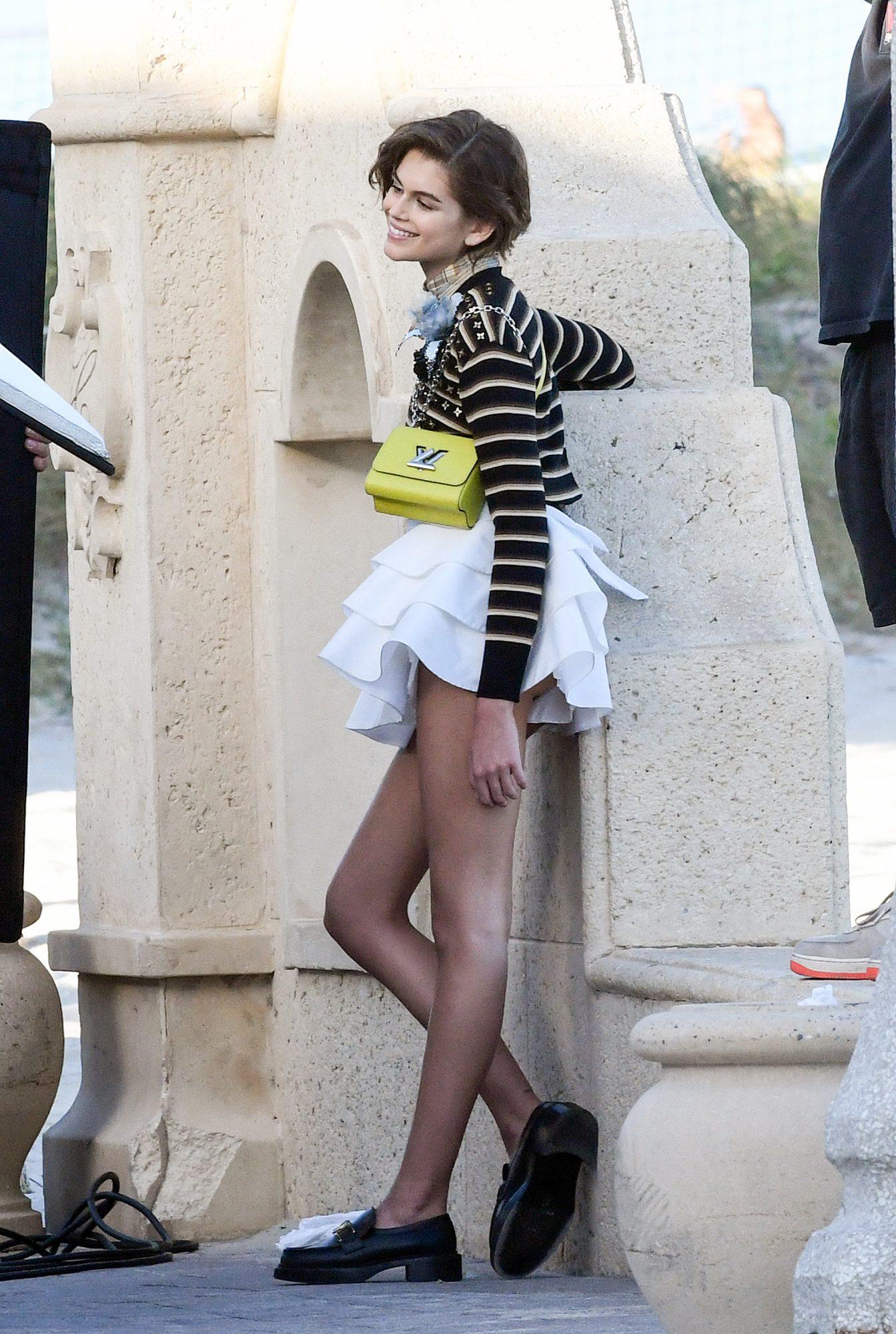 Kaia Gerber en París