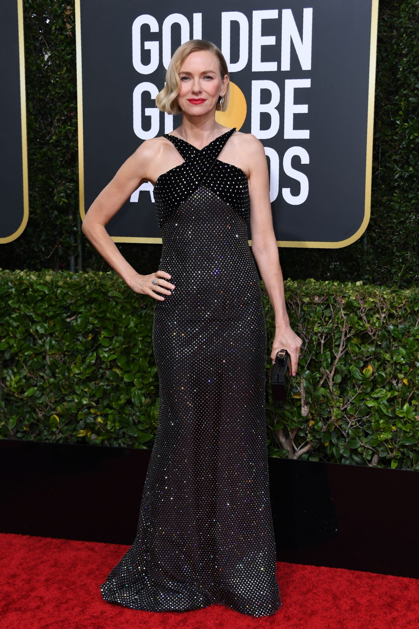 Naomi Watts, look, vestido, golden globes