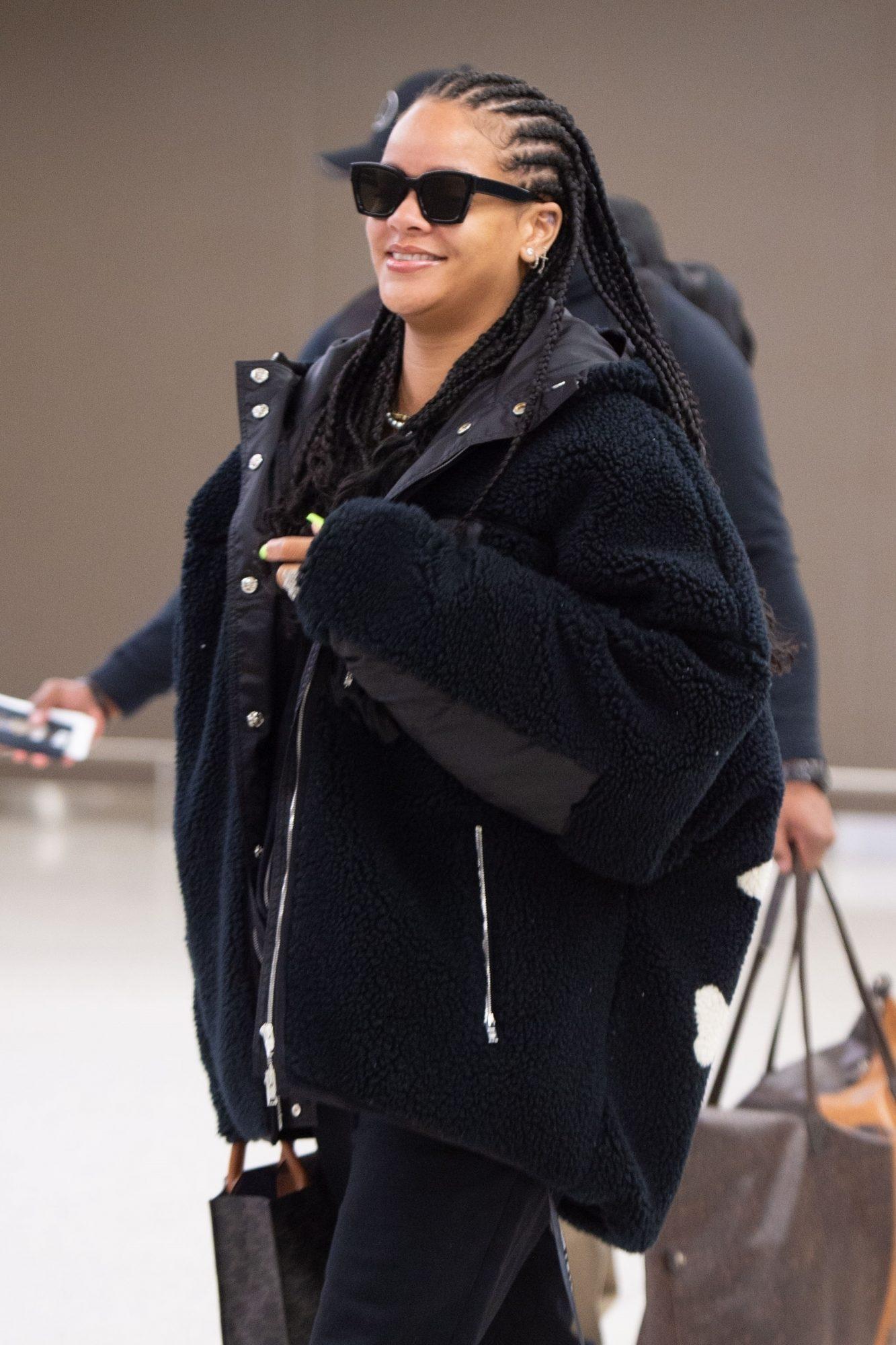 Rihanna arrives at JFK Airport