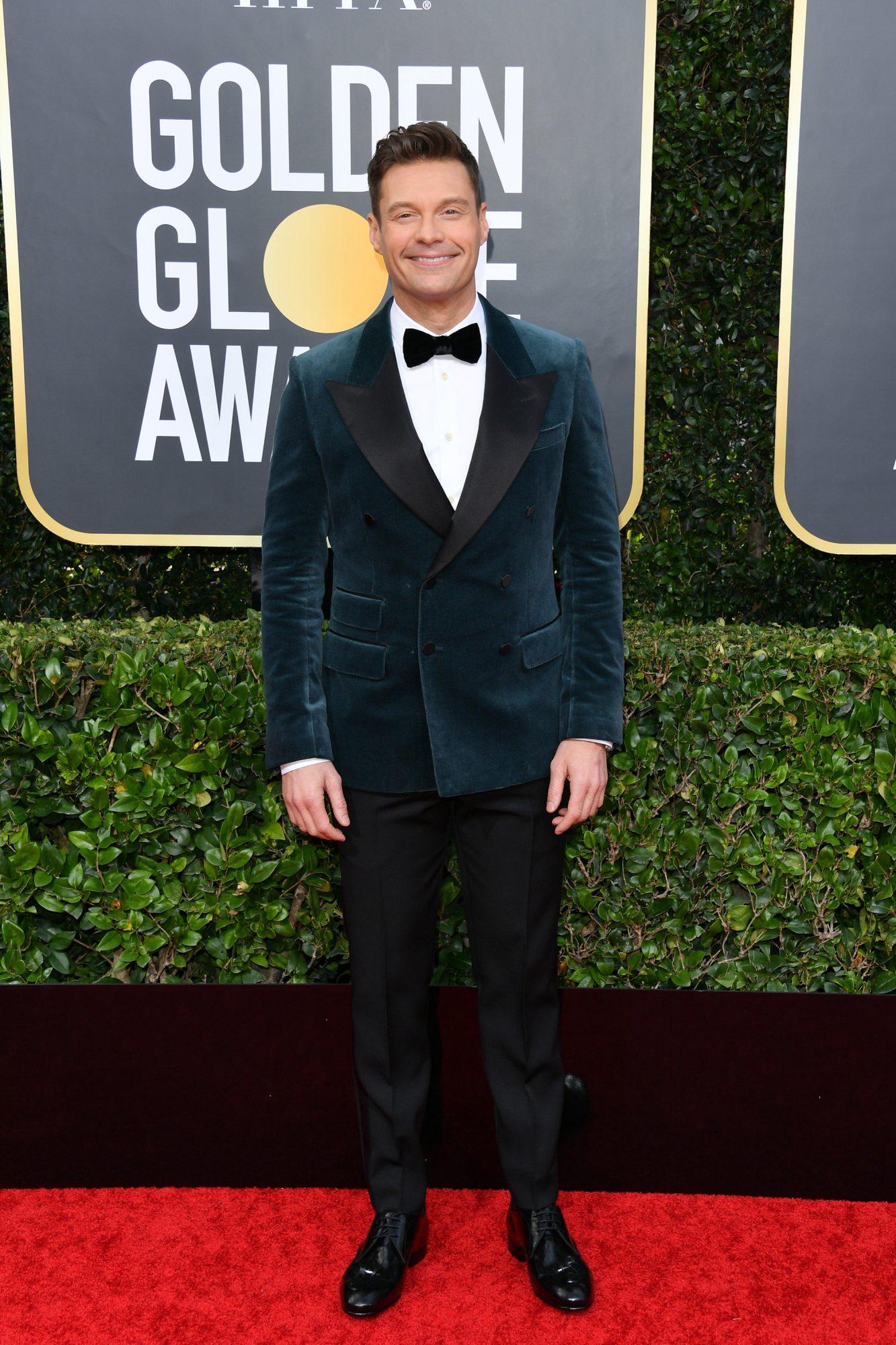 Ryan Seacrest Alfombra Roja Golden Globes 2020