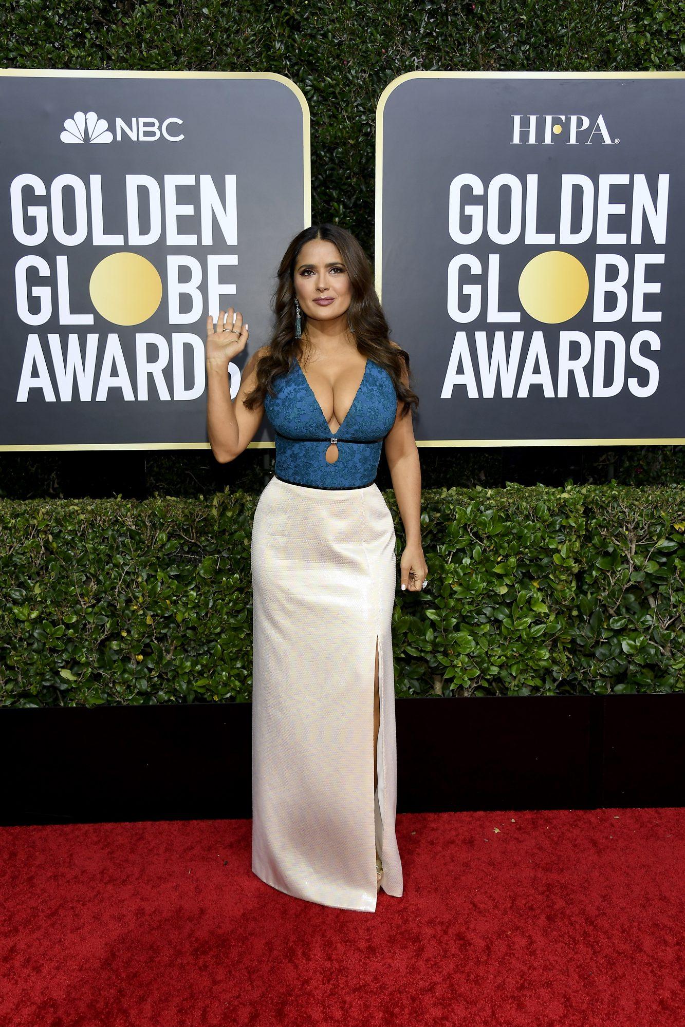 Salma Hayek, look, vestido, golden globes
