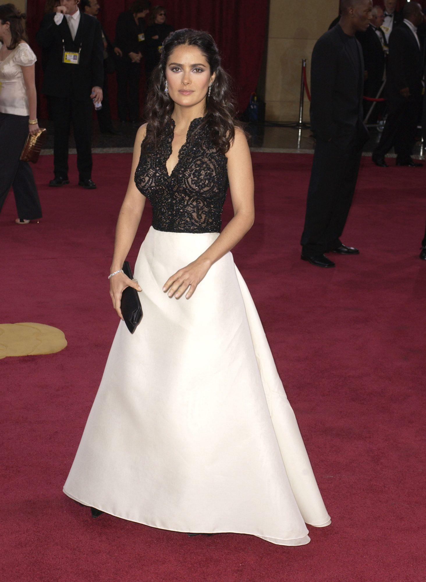 Salma Hayek, premios oscar 2003, vestido