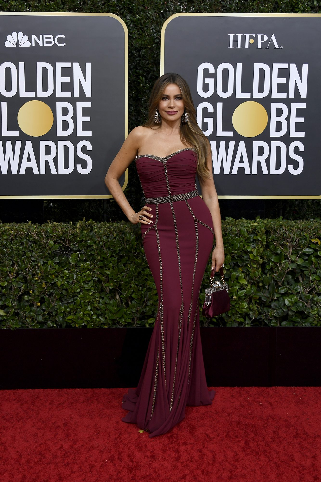 Sofia Vergara, look, vestido, golden globes