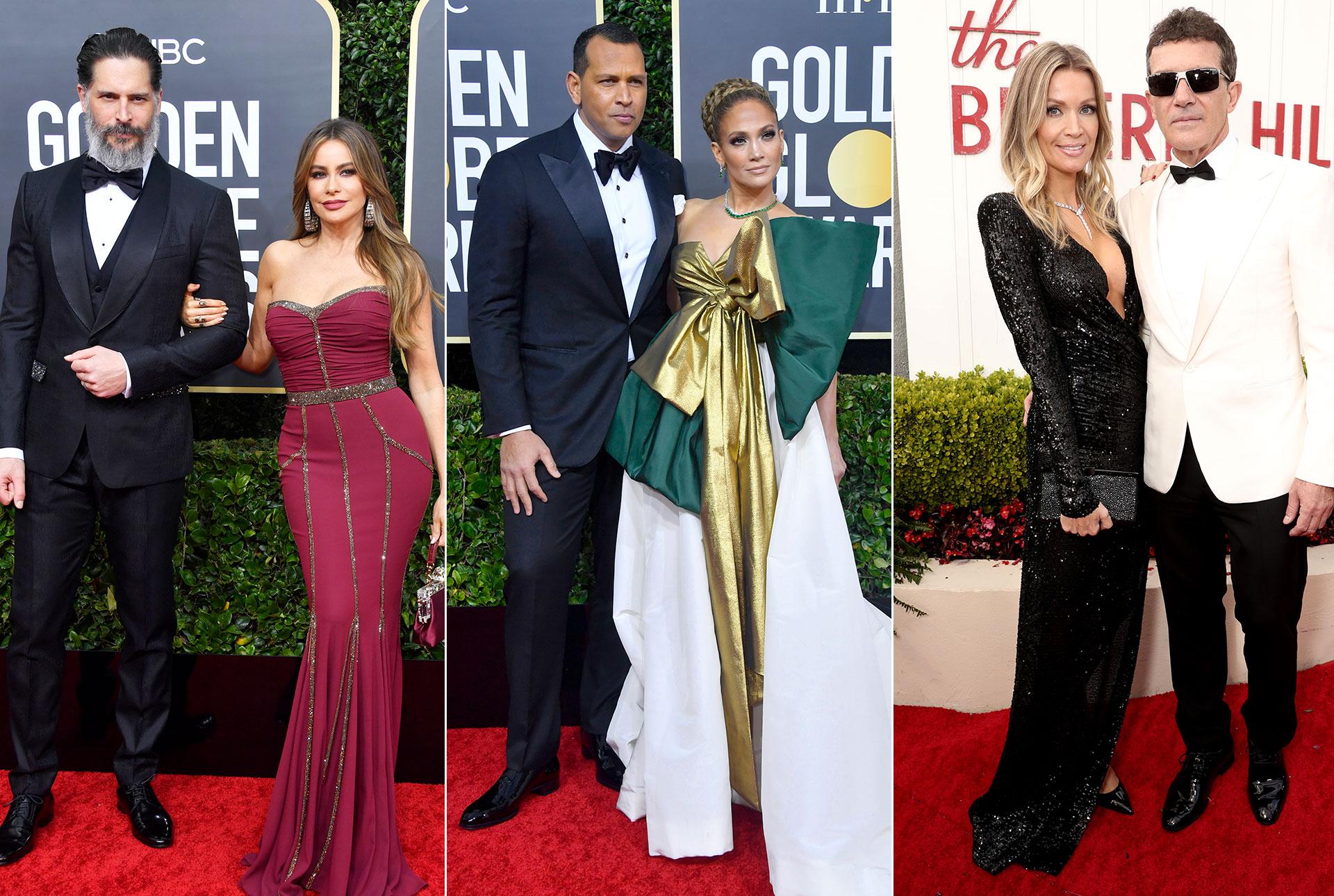 Sofia Verga, Joe Manganiello, Jennifer Lopez, Alex Rodriguez, Antonio Banderas, Alfombra roja golden globes 2020