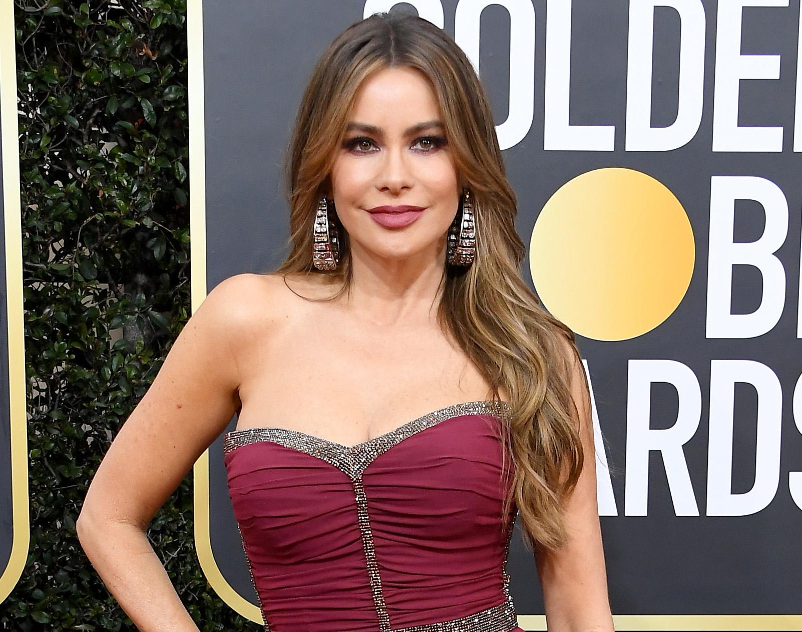 Sofia Vergara, look, belleza, golden globes