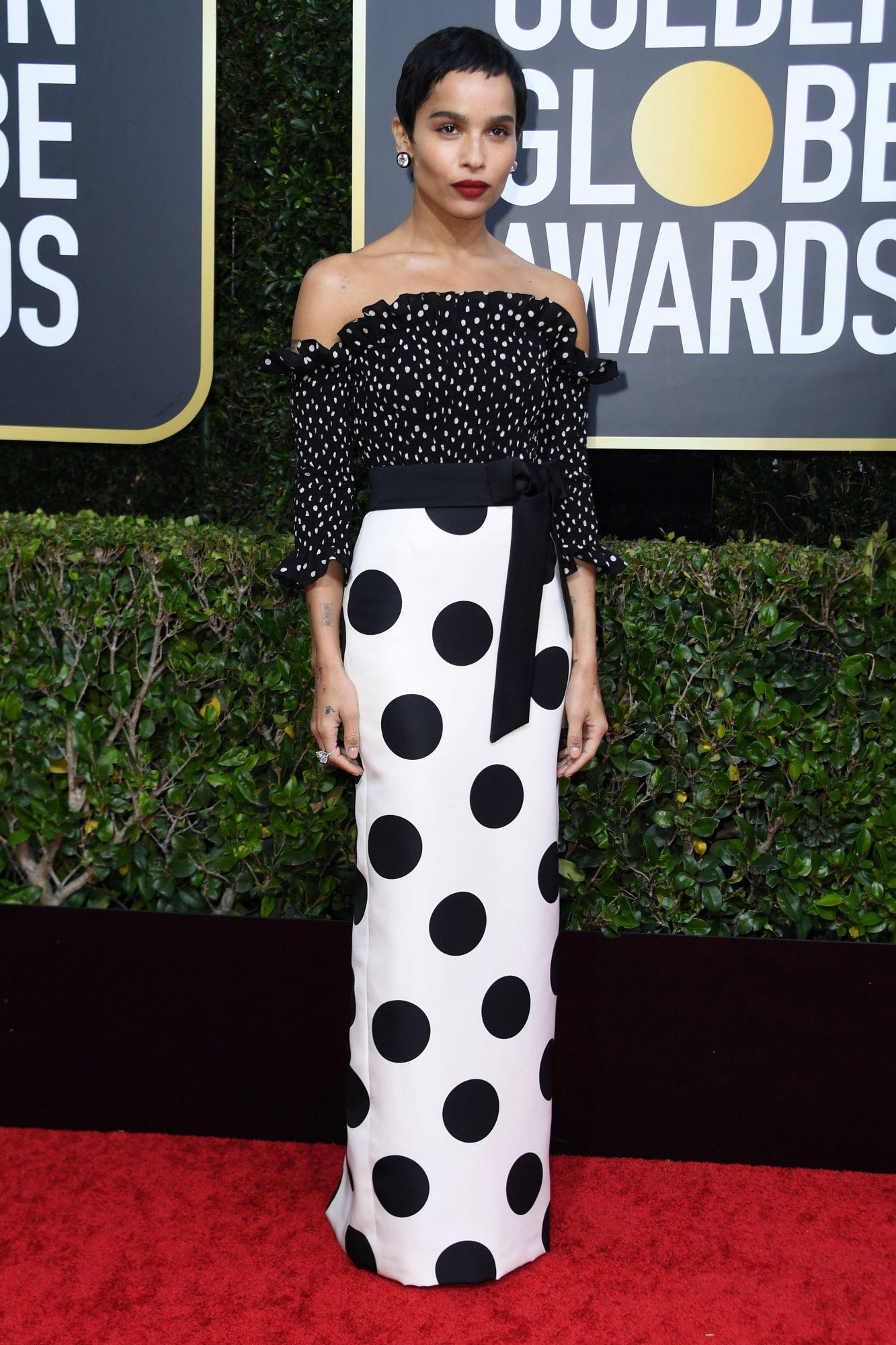 Zoe Kravitz Alfombra Roja Golden Globes 2020