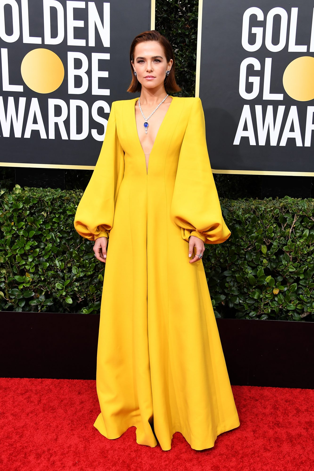 Zoey Deutch, look, vestido, golden Globes
