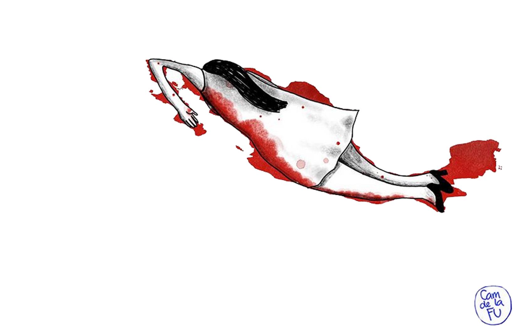 Ilustración feminicidio