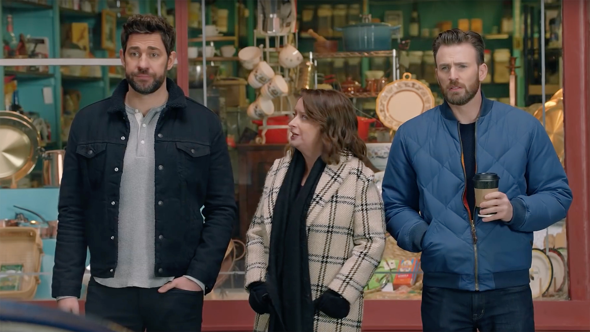 "Chris Evans, Rachel Dratch, John Krasinski y David ""Big Papi"" Ortiz"