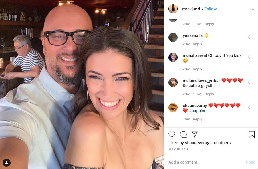 Cris Judd y su esposa