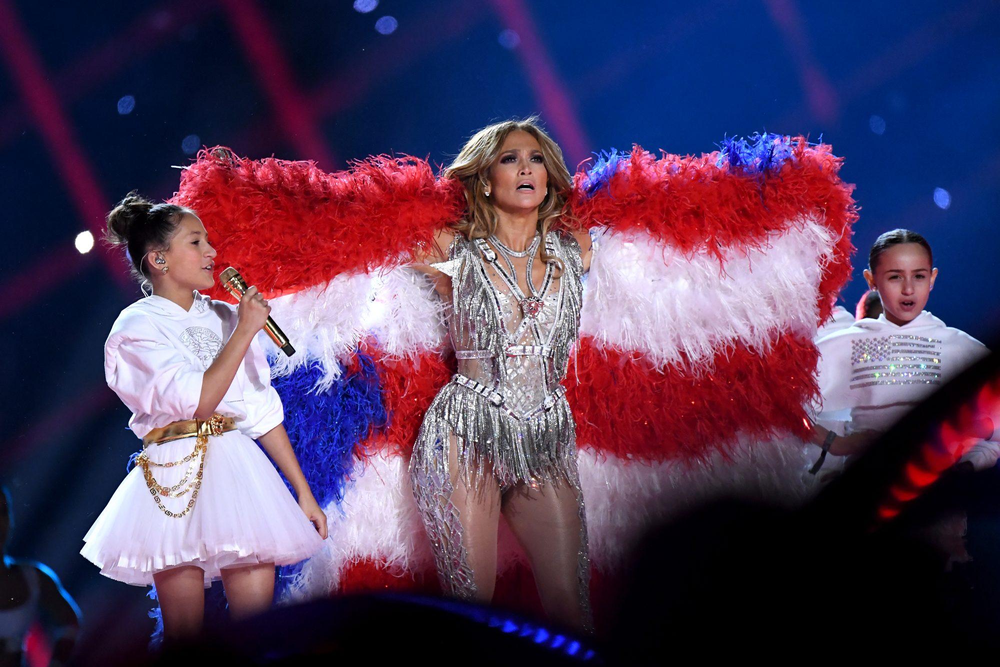Emme Muñíz , Jennifer López, Super Bowl 2020