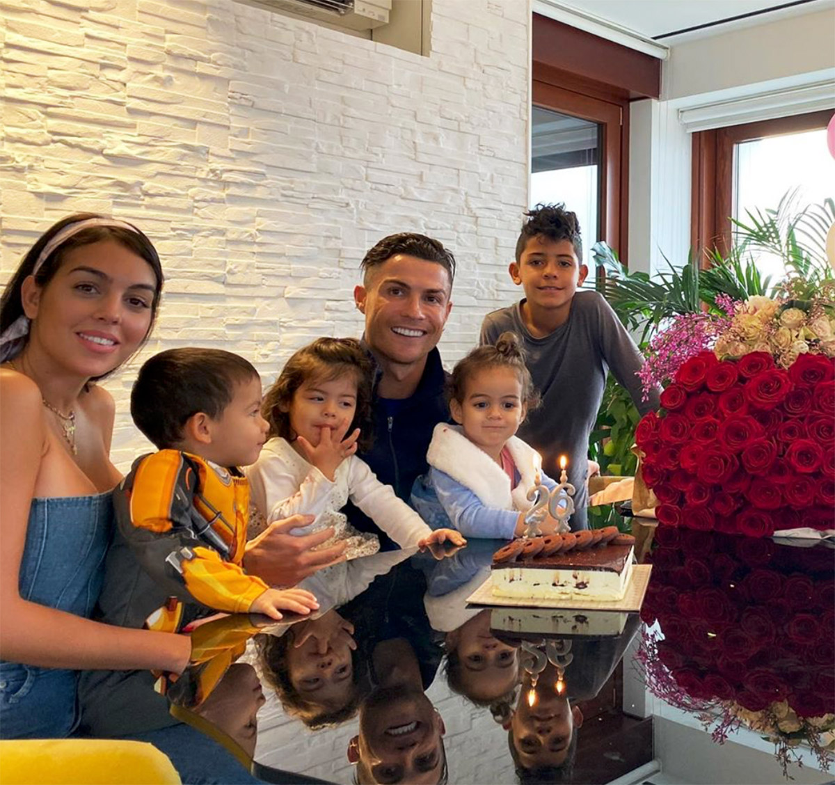 Georgina Rodríguez, Cristiano Ronaldo, hijos