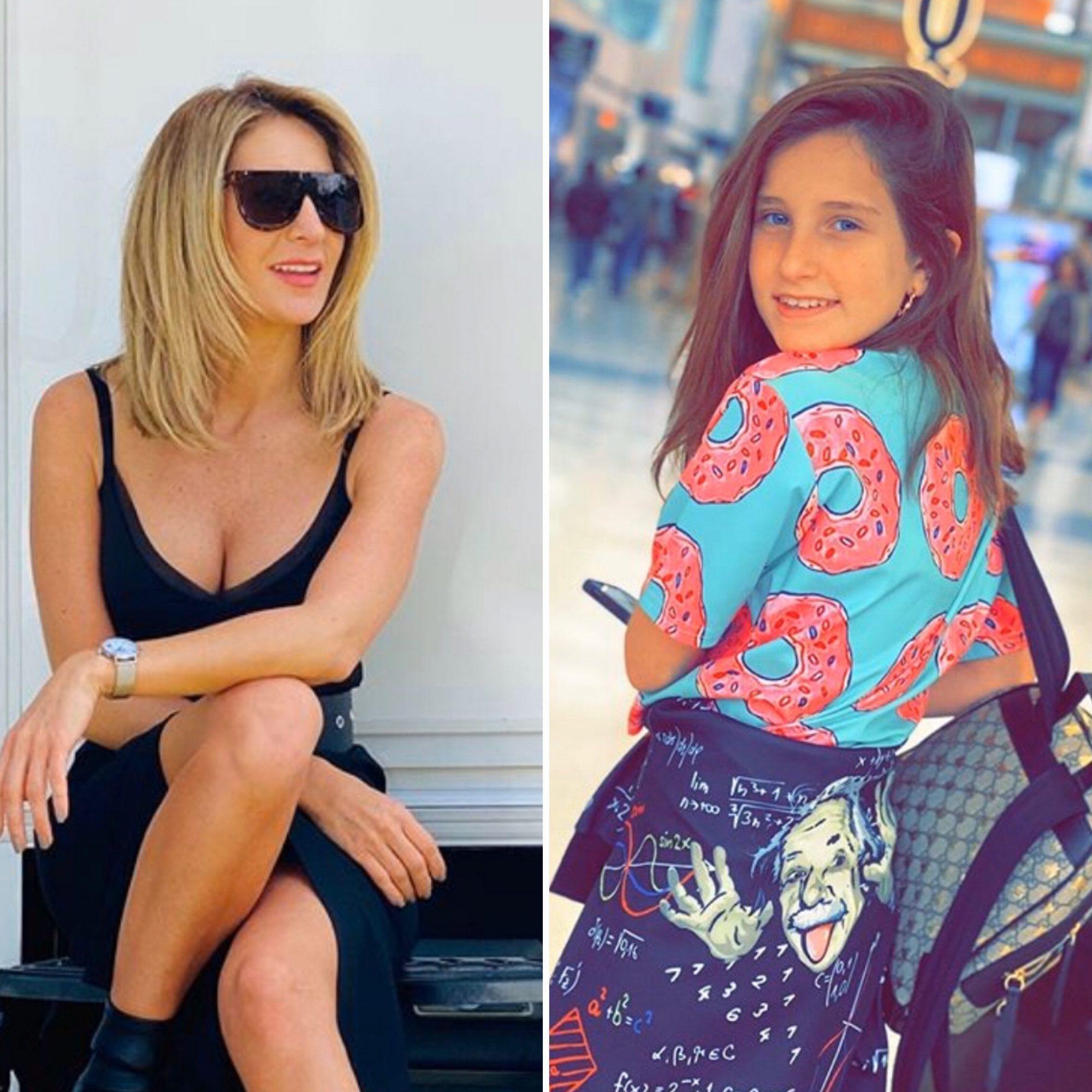 Geraldine y su hija Elissa