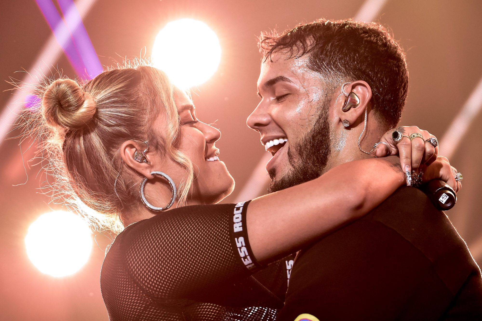 Anuel AA & Karol G In Concert - New York, NY
