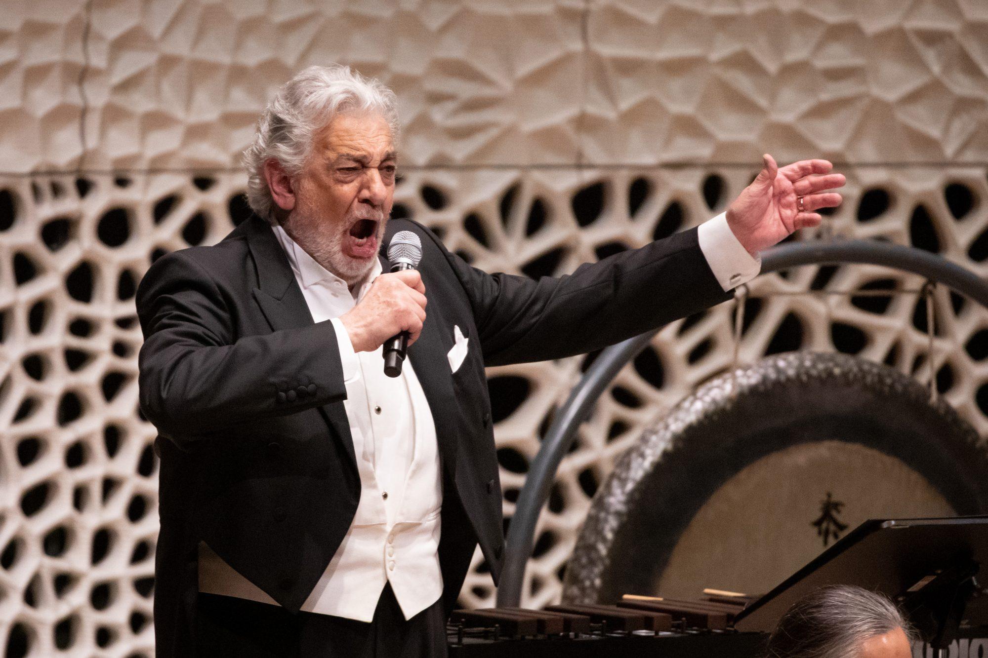 Plácido Domingo en concierto en la Filarmónica del Elba