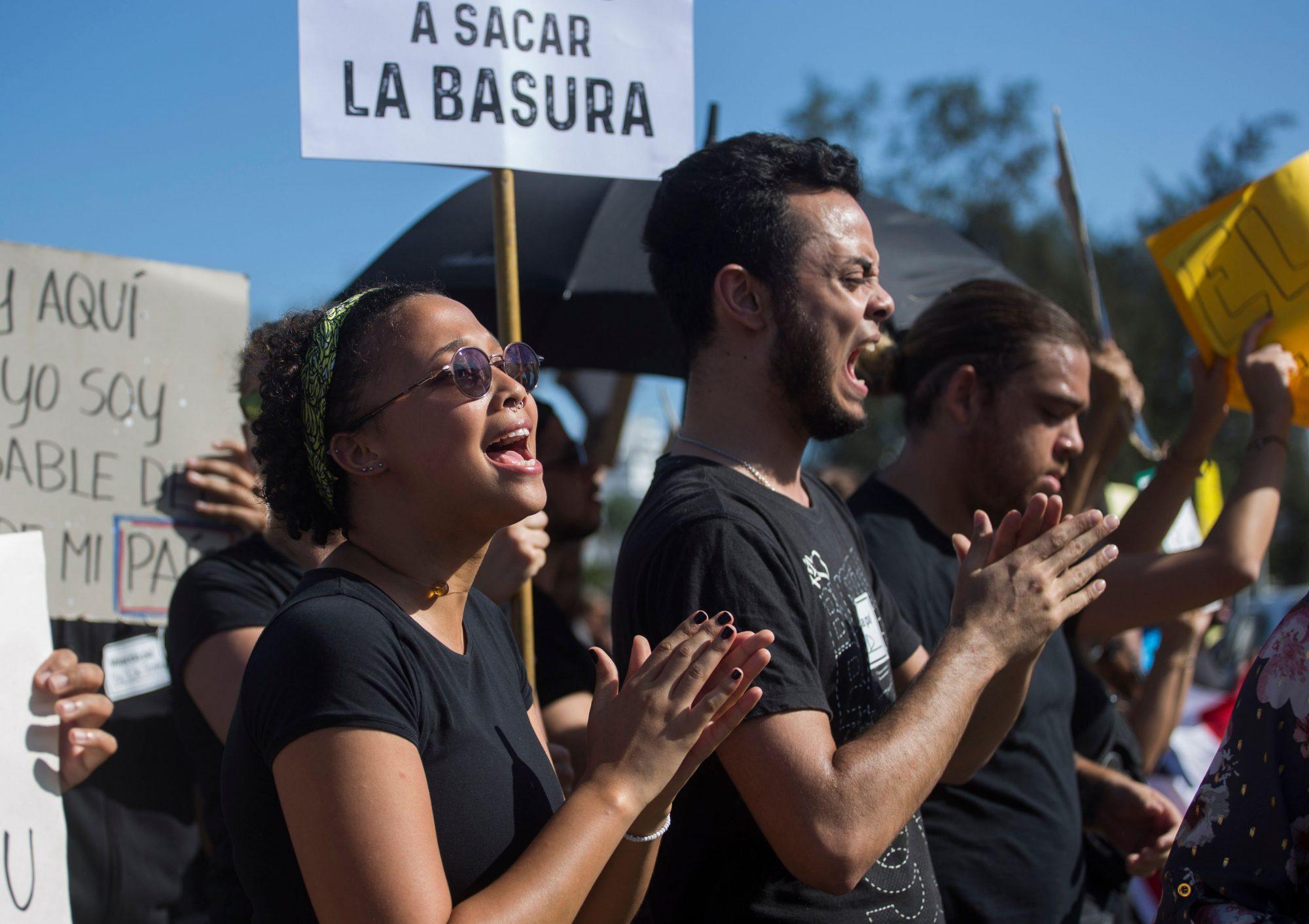 DOMINICAN REP-MUNICIPAL-ELECTION-VOTE-SUSPENSION-PROTEST