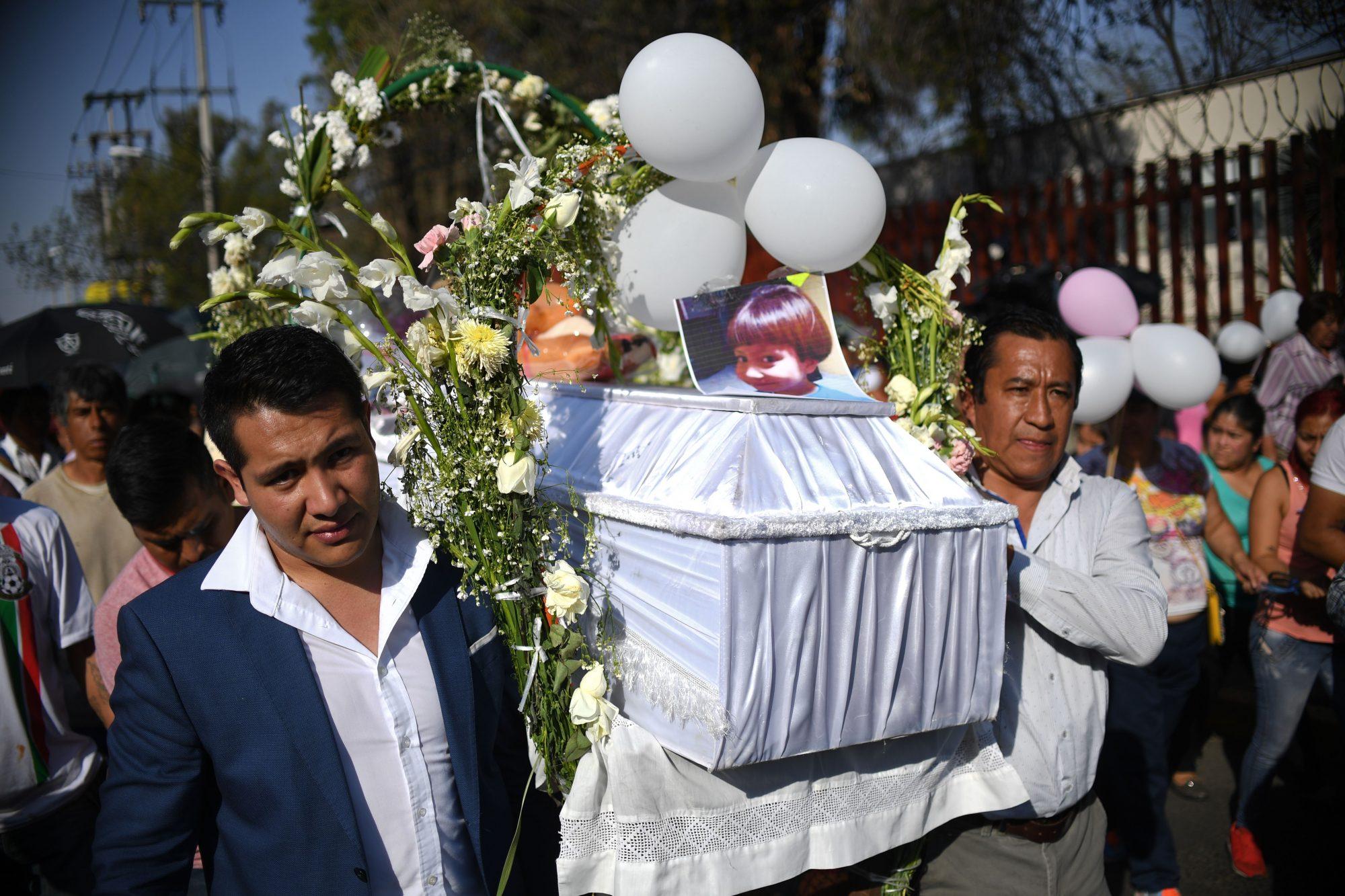Funeral de Fátima Cecilia Aldrighett en México
