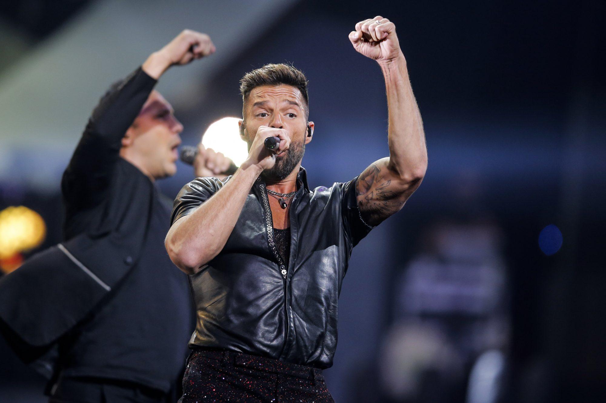 Ricky Martin en concierto Villa del Mar en Chile