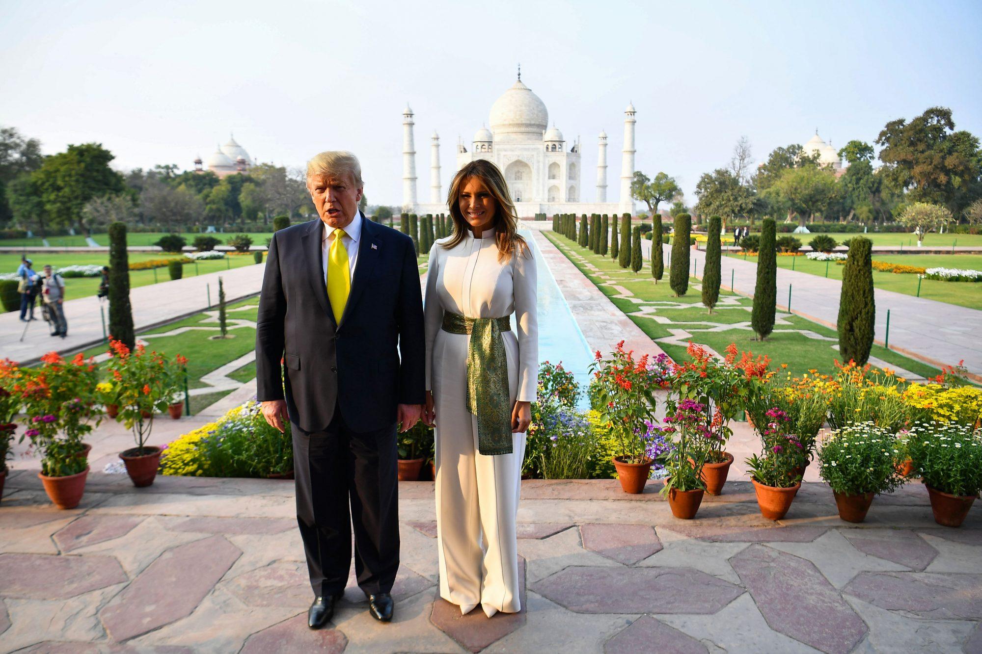 Melania Trump, look, India