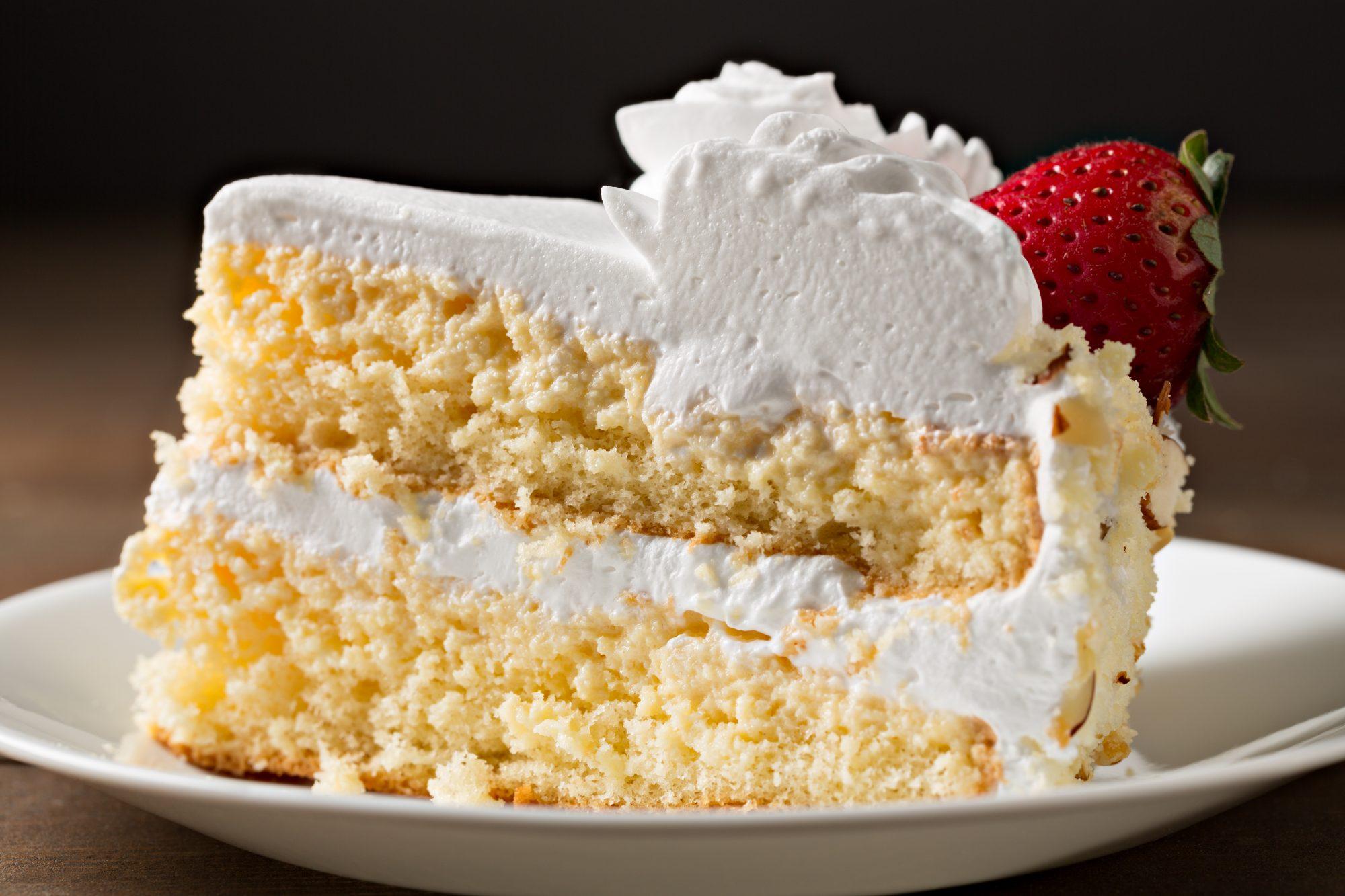 Slice Of Tres Leche Cake