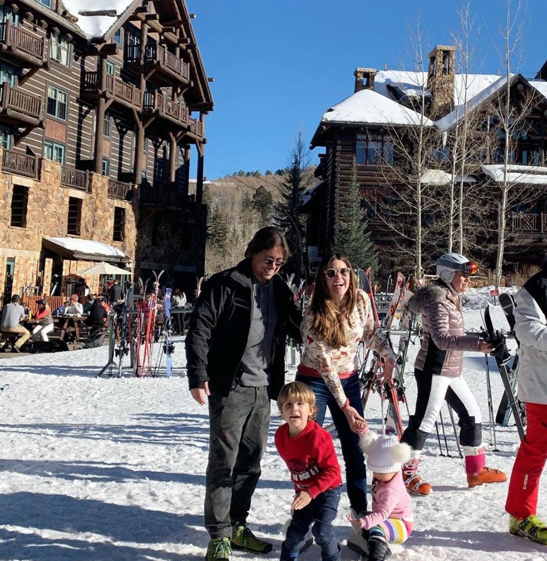 Greidys Gil de vacaciones con familia