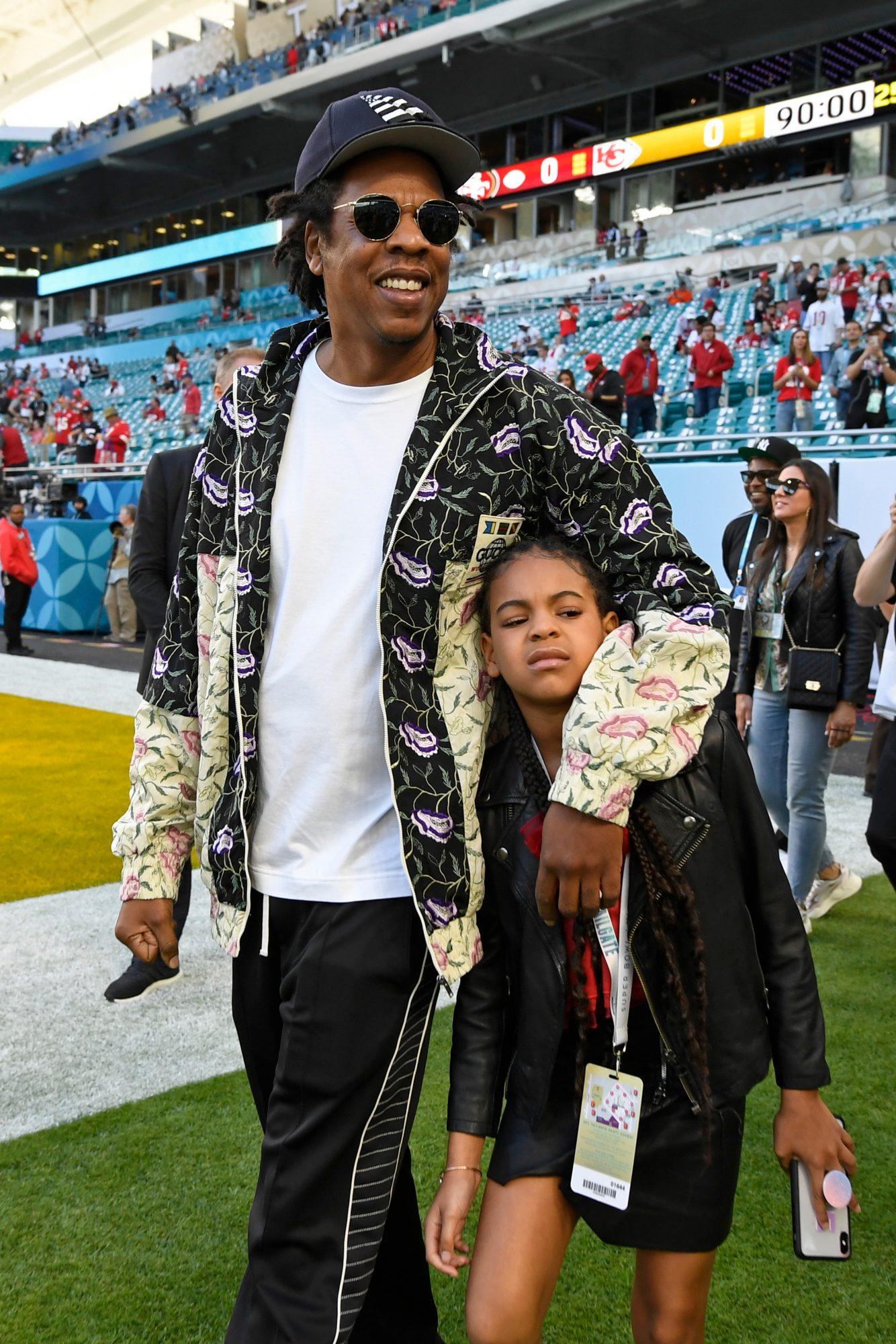 Jay-Z, hija Blue Ivy Carter, Super Bowl 54