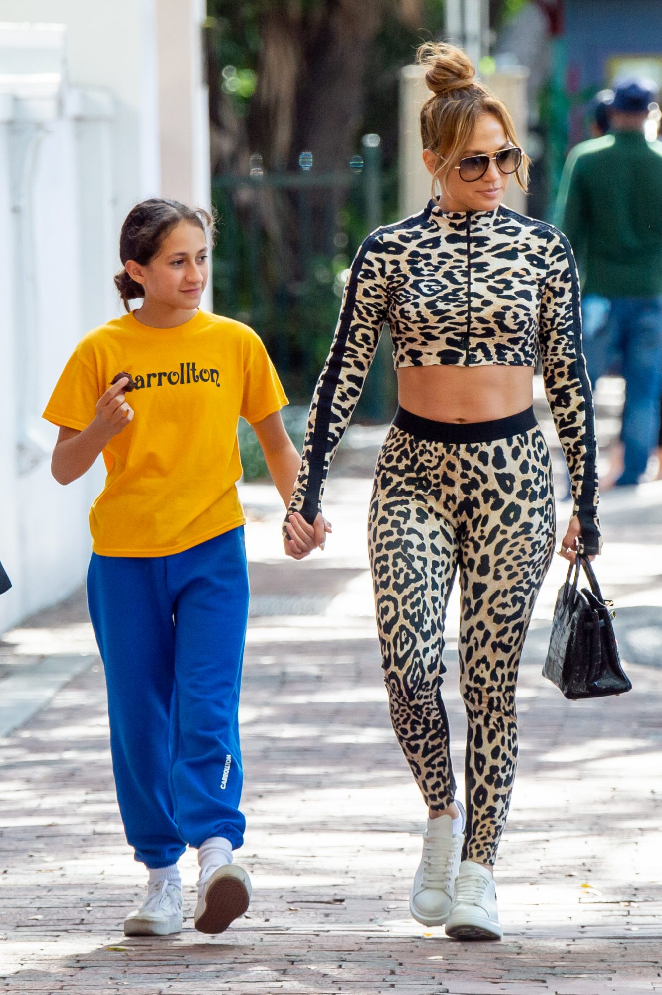 Jennifer Lopez steps out with 11-year-old daughter Emme in Miami