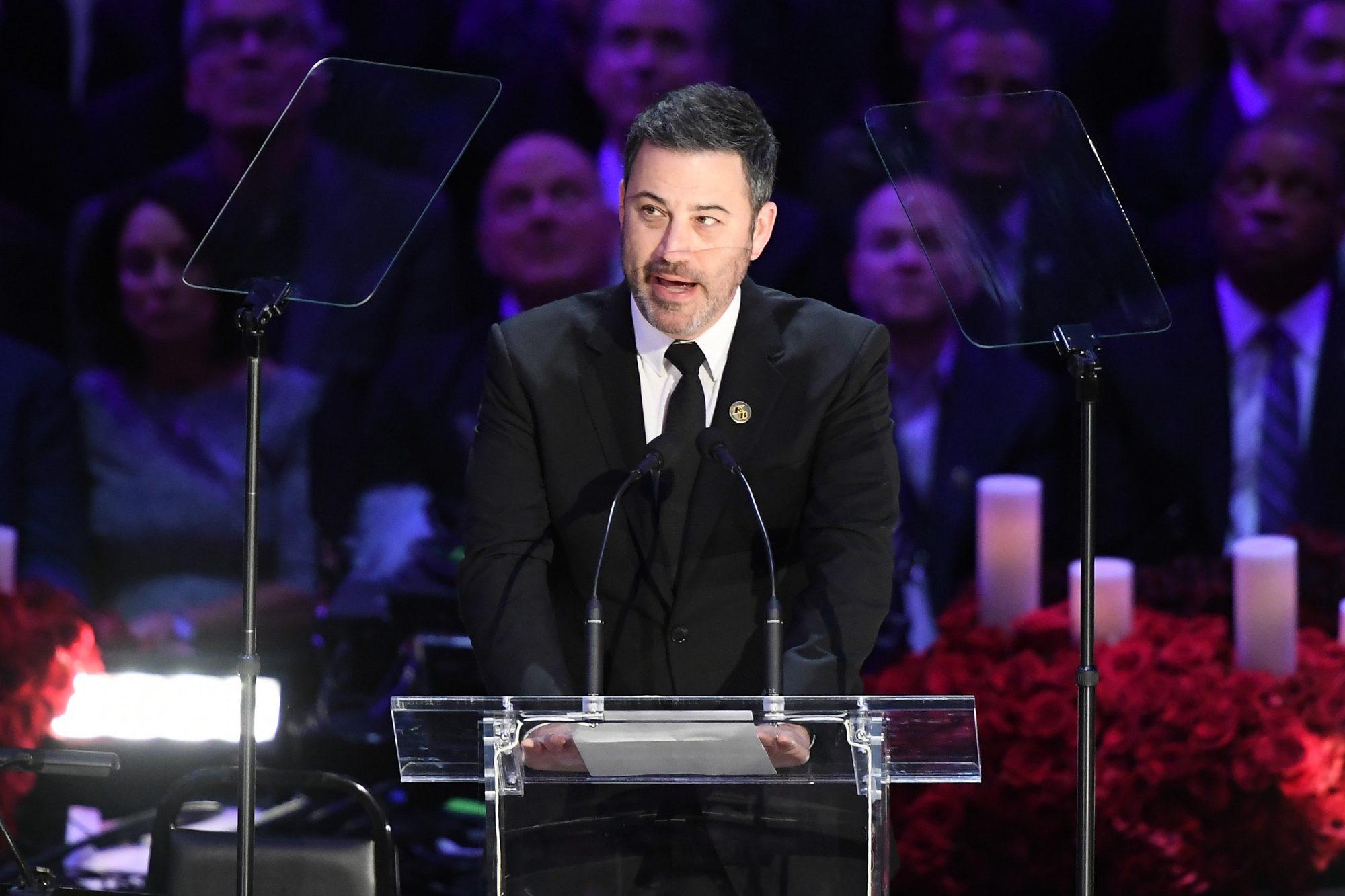 Jimmy Kimmel en el servicio de Kobe Bryant y su hija Gianna