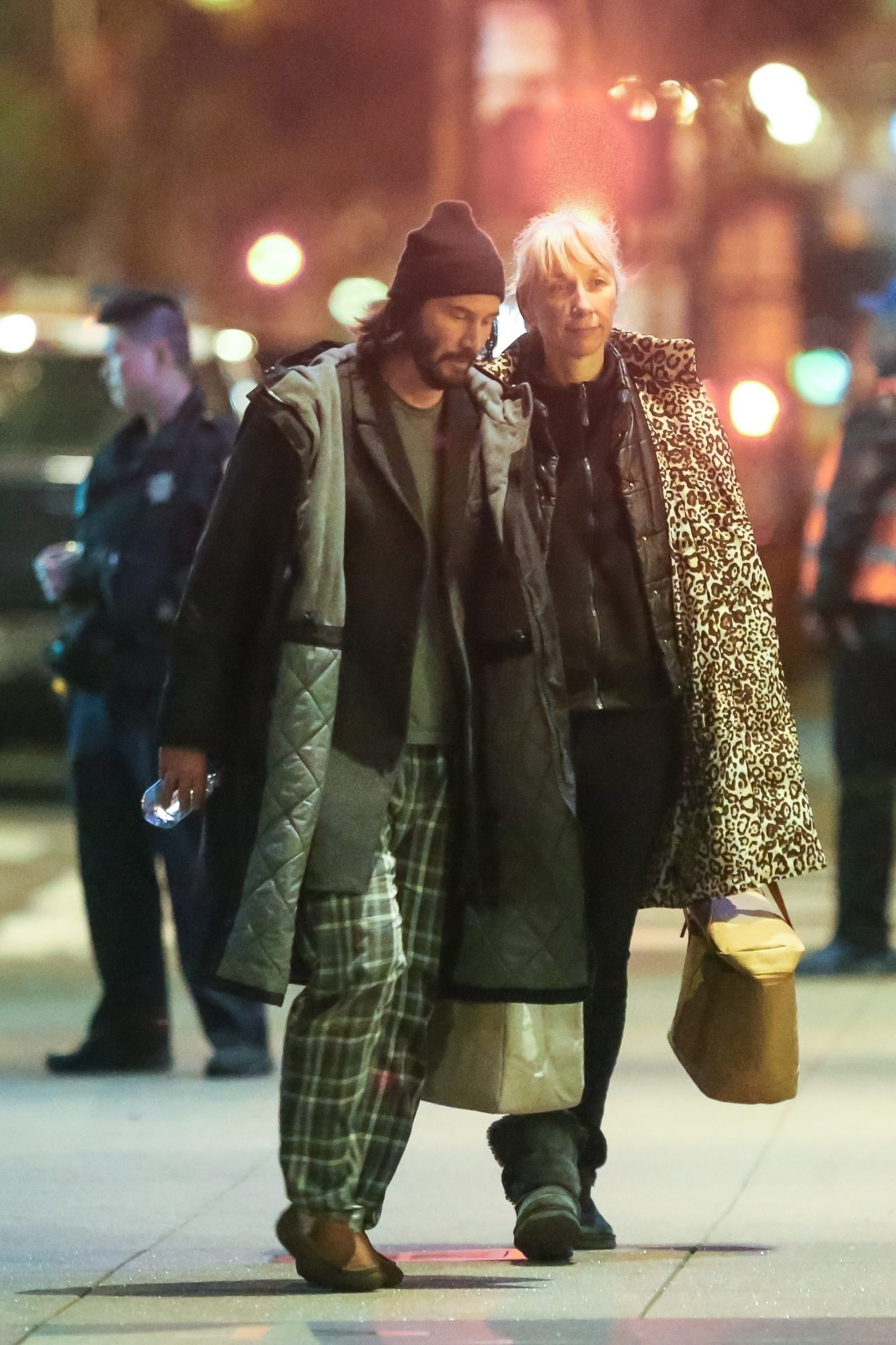 Keanu Reeves spotted out with girlfriend Alexandra Grant on the set of the highly anticipated 4th installment of the Matrix franchise