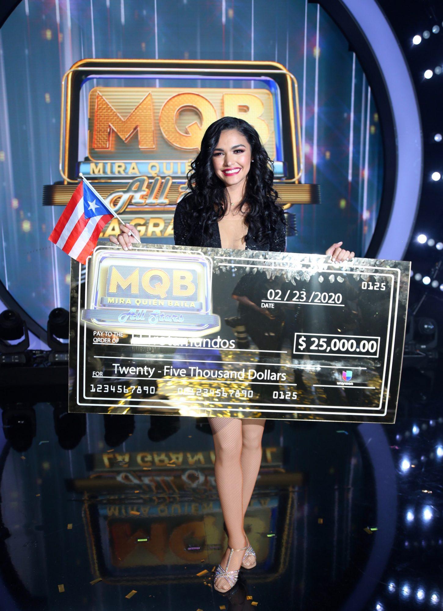"""La puertorriqueña Kiara Liz gana por votación popular y el apoyo incondicional de su natal Puerto Rico el primer lugar de """"Mira Quién Baila All Stars"""""""