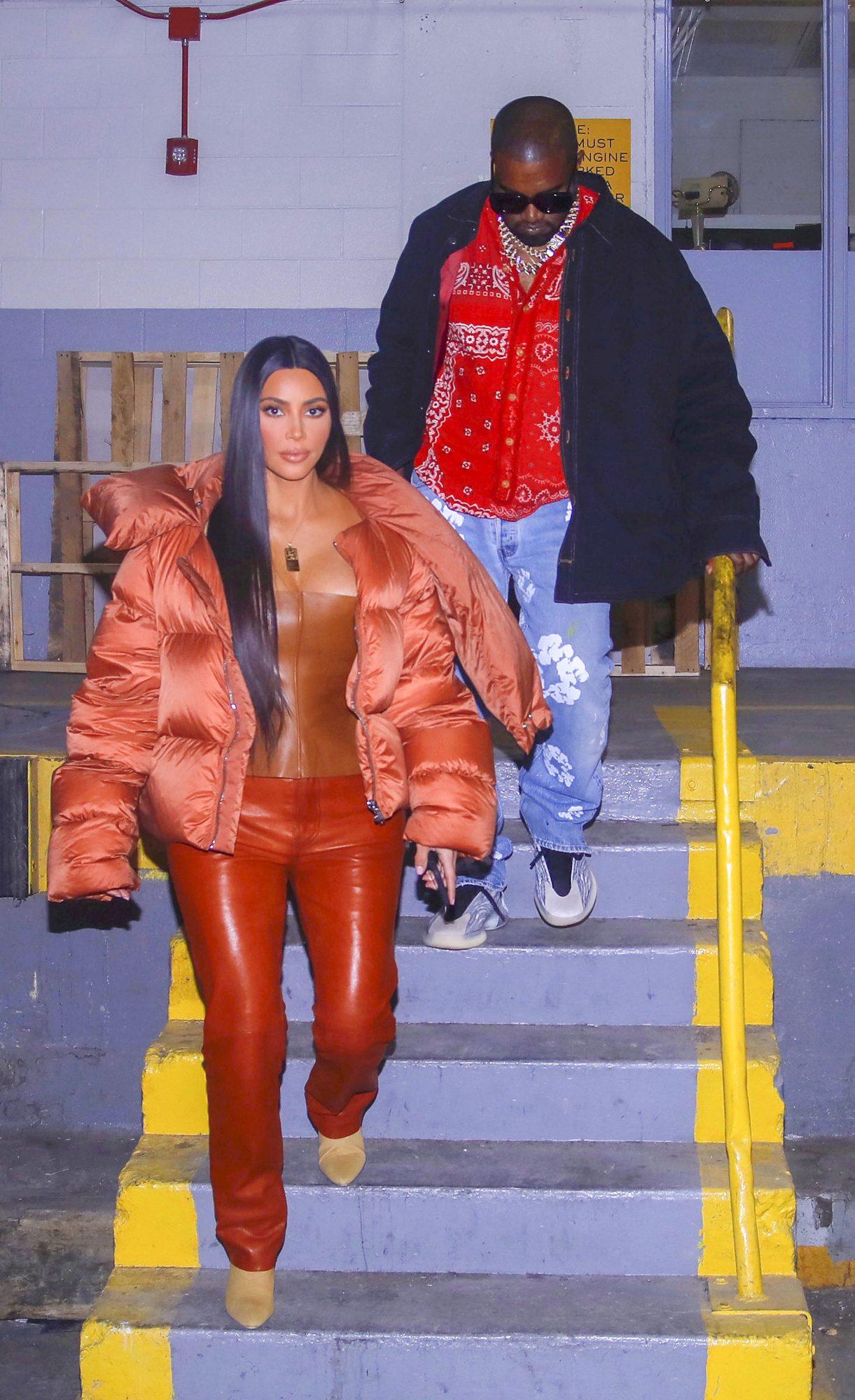 Kanye West y Kim Kardashian en The All Star game