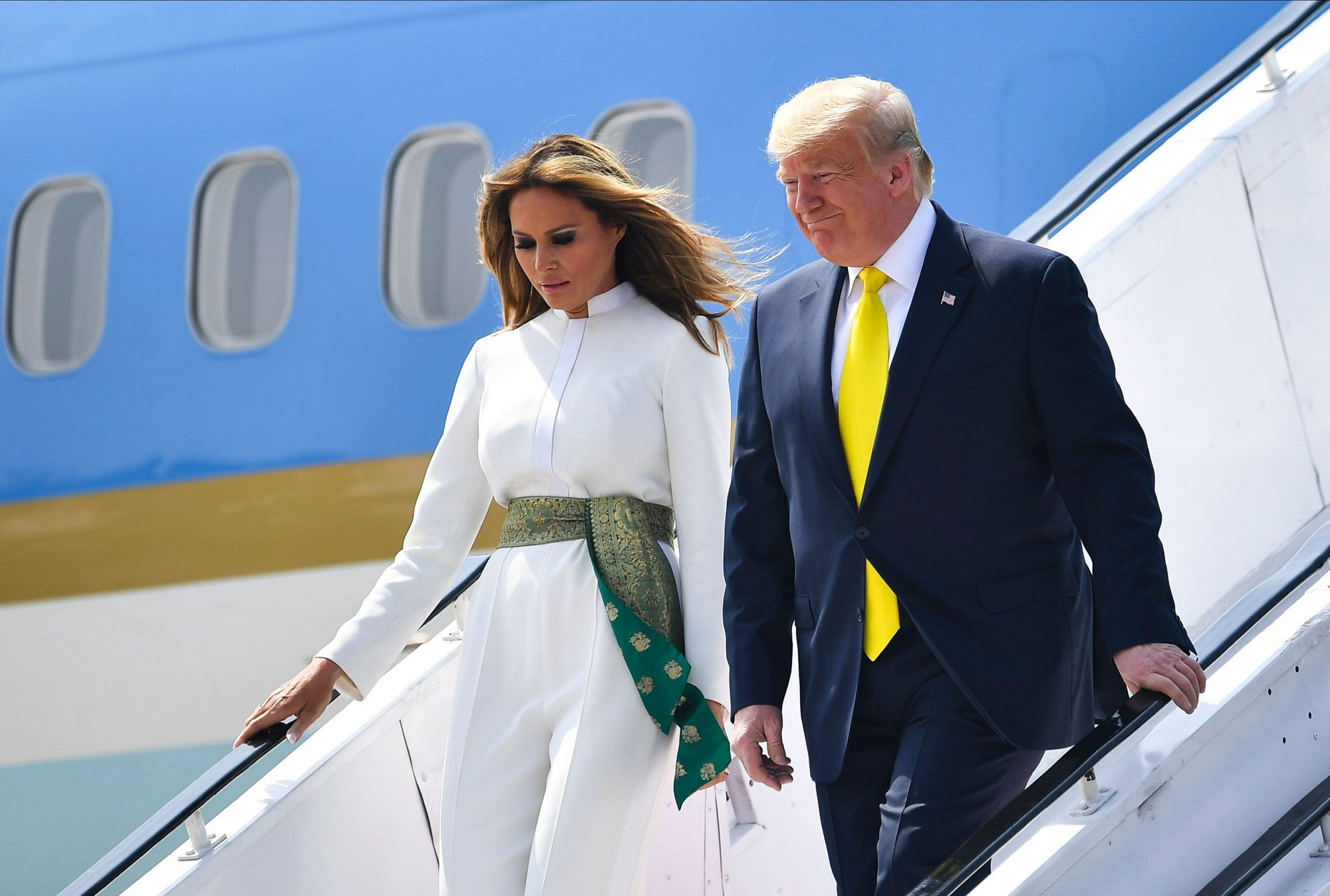 Melania Trump, look, India