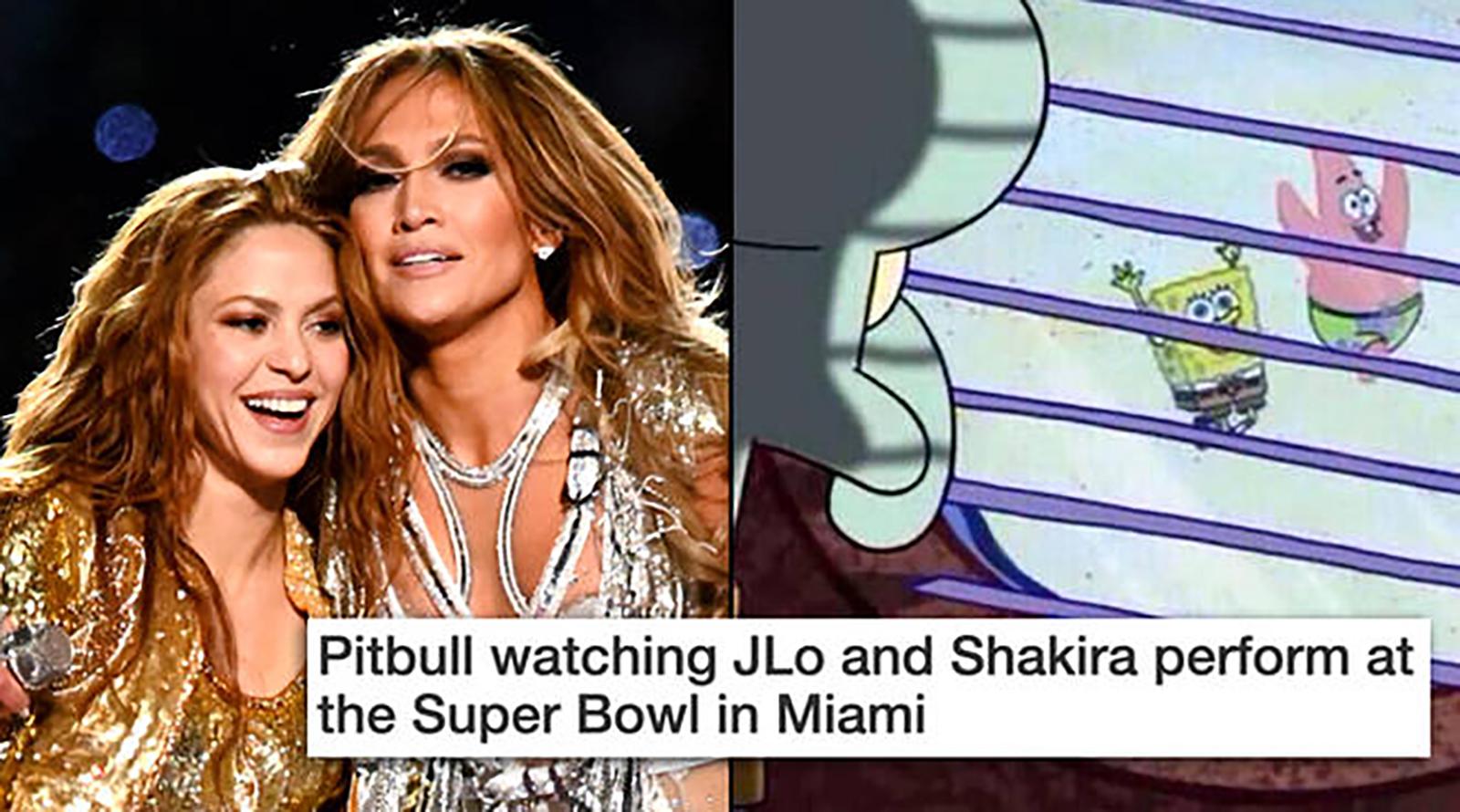 Memes, Super Bowl LIV, Shakira, Jennifer López