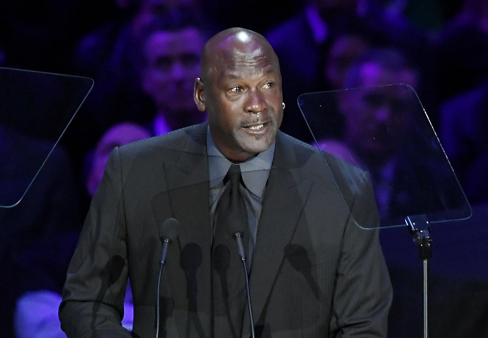 Michael Jordan en el servicio de Kobe Bryant y su hija Gianna