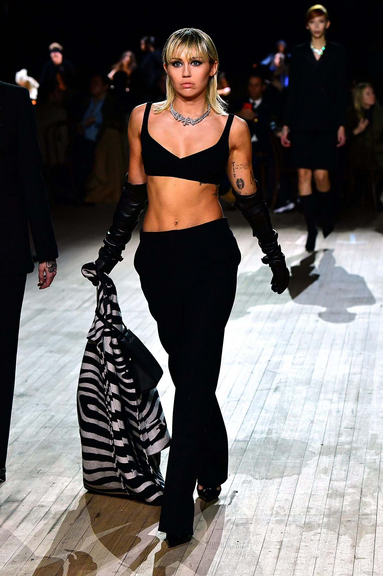 Miley Cyrus walks the runway at the Marc Jacobs Fall 2020 runway show during New York Fashion Week